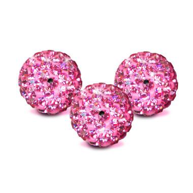 Round Pavé Beads