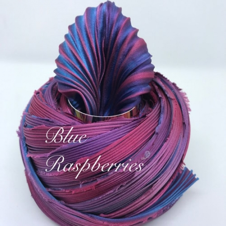 Shibori Silk - Blue Raspberry