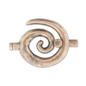 Large Spiral Toggle - Ant Copper 3.2mm