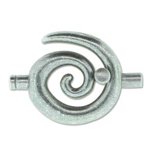 Large Spiral Toggle - Ant Silver 3.2mm