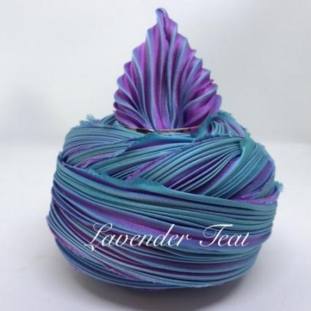 Shibori Silk - Lavender Teal