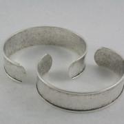 Channel Cuff - antique silver