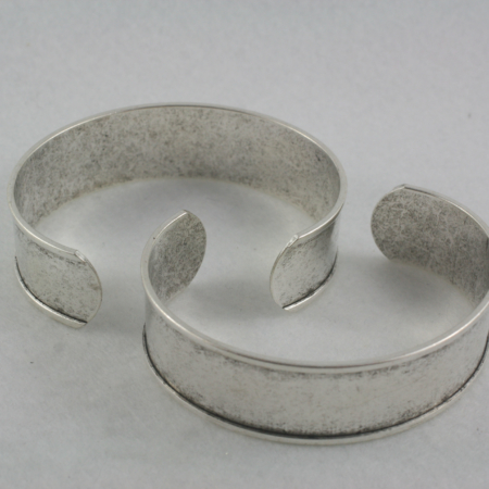 Channel Cuff - antique silver