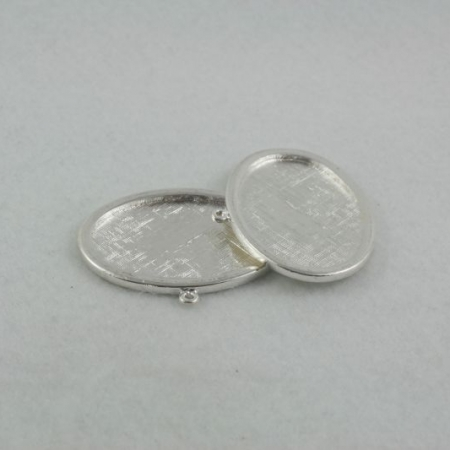 Oval pendant tray - single loop