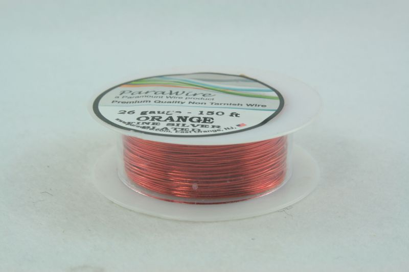 Silver Plated Wire – Outrageous Orange – Beadessence