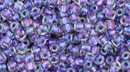 TR-265 - Inside Colour Rainbow Lined Crystal Metallic Purple Lined