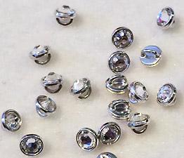 crystal crystalett silver rhodium