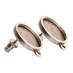 Earring mini circle antique silve