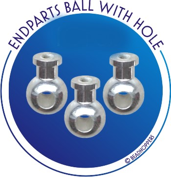 end part ball with hole