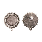ornate earring - post rear