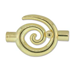 large spiral glue in toggle 6.2mm gold