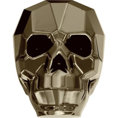 skull metallic gold x 2