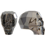 Skull Bead - Silver Night x 2