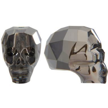 Skull Bead - Silver Night x 2